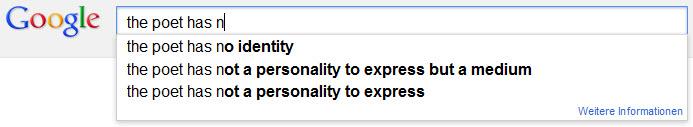 Google as a Poet