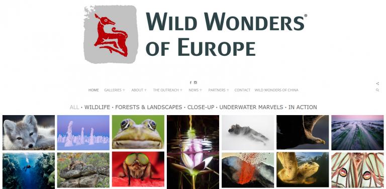 Wild Wonders of Europe Website