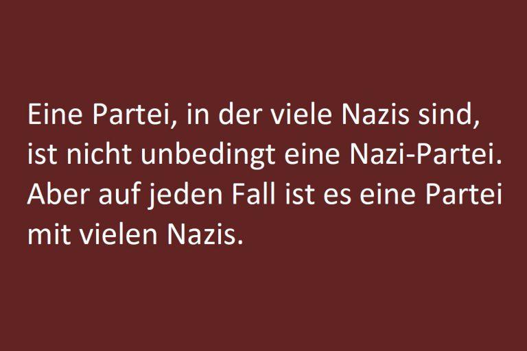 Textauszug Nazis